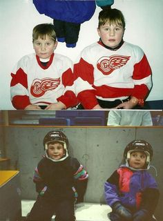 baby Brayden and Luke Schenn