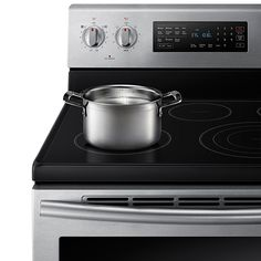Freestanding Electric Range with 5 Smooth Top Electric Elements, Warming Drawer, True Convection Oven, Steamquick and Hot Surface Indicator Light, in Stainless Steel Samsung Dishwasher, Convection Cooking, Single Oven, Electric Oven, Oven Racks, Surface, Smooth, Stainless Steel, Cleaning