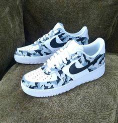 innovative design 4f6c4 c7751 Camouflage Custom Nike Air Force 1  Sneakers