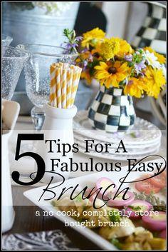 5 TIPS FOR A FABULOUS EASY BRUNCH - StoneGable