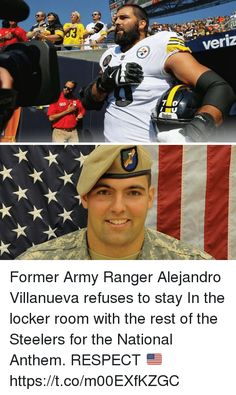 God Bless Him! A man of courage surrounded by teammates of cowards. Stand for the National Anthem and respect some gave all!