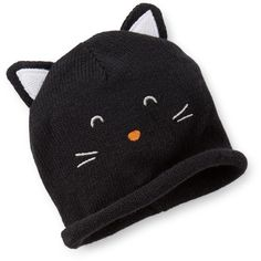 Halloween Kitty Hat Carter's ❤ liked on Polyvore featuring baby