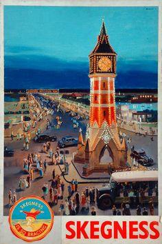 Skegness - Our collection - National Railway Museum National Railway Museum, Great Yarmouth, British Seaside, Railway Posters, Short Break, Art Uk, Europe, Vintage Travel Posters, Big Ben