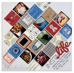Love this design -- lots of pictures plus pretty papers/embellishments.