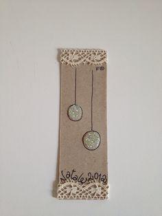 "Christmas bookmark ""antique white"" 2"