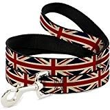 United Kingdom British Flag Pet Dog Leash | 6 ft Length (1 Inch Wide) – Made in the USA United Kingdom British Flag Pet Dog Leash | 6 ft Length (1 Inch Wide) – Made in the USA Product Description Show off your Patriotism and equip this American Made accessory. Price: $13.95 Show off your UK pride and equip the Flag! Skillfully handcrafted by American Workers in the USA! Features the Union Jack Flag | Vintage Look | Illustrated with multiple colo..