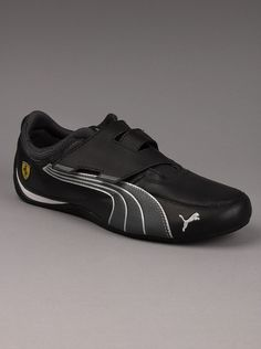 a3a054ee3b8 Puma® Ferrari Drift Cat 4 Mens Strap Sneakers in Black. You ll be