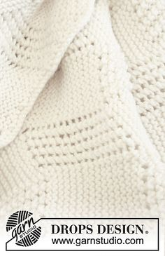 "Ravelry: b21-37 ""Baby Cloud"" - Blanket in ""Merino Extra Fine"" pattern by DROPS design"
