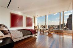 Bedroom .. Nice hardwood floors .. Penthouse in TriBeca, NY