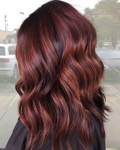 Auburn Hair With Highlights, Brown Auburn Hair, Light Auburn Hair Color, Hair Color Highlights, Medium Auburn Hair Color, Fall Auburn Hair, Red Hair On Brown Hair, Light Colored Hair, Natural Dark Red Hair