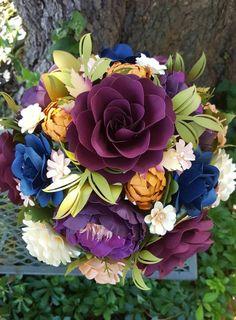 This item is unavailable Paper Bouquet, Flower Bouquets, Paper Flowers, Floral Wreath, My Etsy Shop, Wreaths, Weddings, Rose, Check