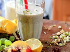 Proteínové smoothie z klíčkov Smoothies, Healthy Drinks, Barbecue, Panna Cotta, Detox, Food And Drink, Pudding, Tableware, Fit