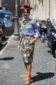 ADVANCED STYLE: AltaRoma: Outside Stella Jean