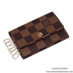 0a441a419139 Louis Vuitton N62630 6 Key Holder Damier Ebene Canvas