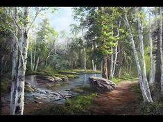 Hidden Birch Trees - Oil Painting - YouTube