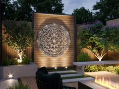 Tesseract Sacred Geometry Outdoor Metal Wall Art S - Mexican Metal Yard Art Modern Outdoor Wall Art, Outdoor Walls, Modern Wall, Outdoor Metal Wall Decor, Outdoor Art, Metal Wall Sculpture, Wall Sculptures, Garden Sculpture, Outdoor Sculpture