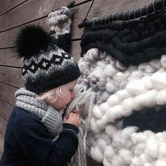 | m y  b i g g e s t  f a n |  During my wall art photo shoot he suddenly wanted to wear his new Winter goodies from @Huttelihut #wallart #mytreasure #huttelihut #denmark #danishdesign #alpaca