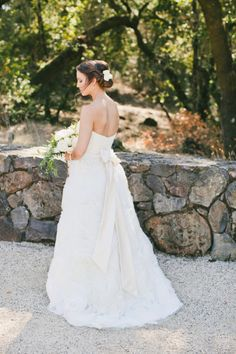 Exquisite dress: http://www.stylemepretty.com/little-black-book-blog/2015/02/20/ruby-pink-chalk-hill-estate-winery-wedding/ | Photography: Onelove - http://www.onelove-photo.com/