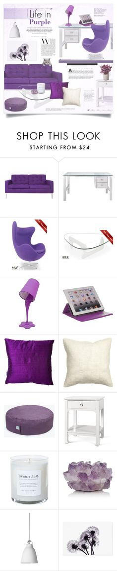 """Life in Purple ~ With Modern Luxury Furnitures"" by alexandrazeres ❤ liked on Polyvore featuring interior, interiors, interior design, home, home decor, interior decorating, Somette, LumiSource, M-Edge and Heal's"