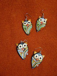 Owls-handmade earrings