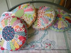 dresden pincushions ~ swing kitten