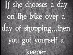 I will always choose the bike over shopping!!❤‍♀️✌️