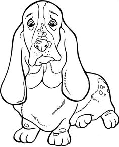 Basset Hound Coloring Page From Dogs Category Select 27226 Printable Crafts Of Cartoons Nature Animals Bible And Many More