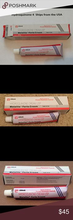 """Abbott Hydroquinone Cream Skin Whitening Acne Scar New in box 30g tube of Abbott Melalite Forte Hydroquinone Cream. I've been using this for acne scars and sun spots / hyperpigmentation. It's known as a """"bleaching cream"""" but doesn't actually whiten your face - it's just meant to lighten the dark spots on your face. Expires 04/2018. Abbott Other"""