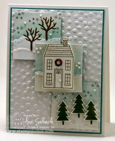 Holiday Home stamp set and coordinating Homemade Holiday Framelits