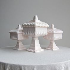 Vintage Jeannette Pink Milk Glass Wedding by BarkingSandsVintage I have been looking for the larger one for a LONG time