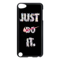 nike just do it typograph design for apple ipod 5 touch case cover, US $16.89