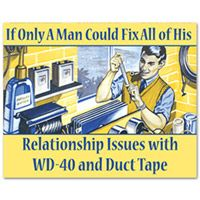WD-40 and Duct Tape Tin Sign  http://www.retroplanet.com/PROD/35803