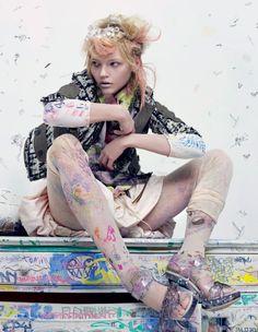 Sasha Pivovarova by Craig McDean for Interview Magazine February 2010