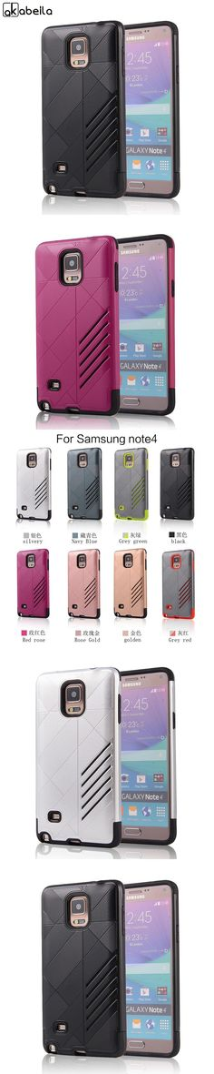 PC TPU Stripe Mobile Phone Cases Cover For Samsung Galaxy NoteIV N9100 Note 4 N9108 Note4 N910 Note IV  Armor Skin Shell Housing