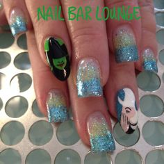Your So Wicked on Broadway  #nails #nailart #naildesign