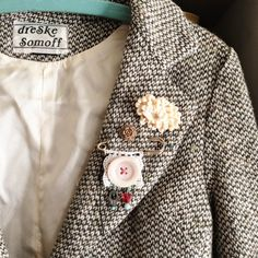 dottie angel: my thrifted winter coats ...like the pins grouped together