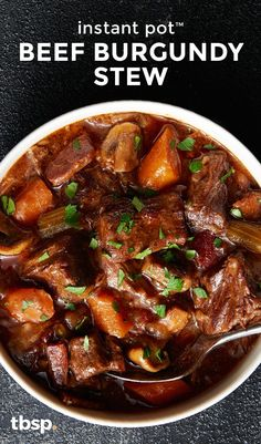 Sure, you could labor over beef burgundy stew for hours like most recipes call for. Or you could make this easy hands-off Instant Pot™ version that's ready with less time and less effort. Both techniques result in dinner that's beyond hearty. We'll leave Beef Steak Recipes, Beef Recipes For Dinner, Instant Pot Dinner Recipes, Slow Cooker Recipes, Cooking Recipes, Stewing Beef Recipes, Healthy Stew Recipes, Instant Pot Beef Stew Recipe, Recipes With Beef Pieces