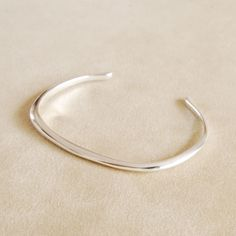 irregular shape silver bangle Helena Rohner SS14 #helenarohner