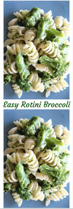 Craving Pasta? Easy Rotini Broccoli. This pasta dish is tasty and easy to make. Click here for this recipe or pin to save for later.