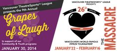 Vancouver TheatreSports League Presents The Massacre Improv Tournament and Grapes of Laugh Fundraising Gala