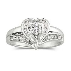 I Said Yes™ 3/8 CT. T.W. Diamond Heart Bridal Ring - jcpenney