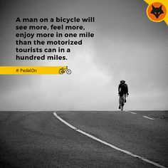 Have you ever flown on two wheels and felt the nature lately? Go RIDE! #PedalON