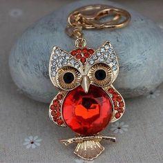 3 - Way RED OWL On A Branch Crystal Swarovski Rhinestones Designer Key Chain - Purse Charm - Pendant by BeadsNThingsPlus on Etsy https://www.etsy.com/listing/217389823/3-way-red-owl-on-a-branch-crystal