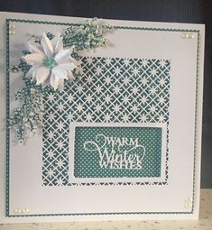 Sue Wilson 2018 dies Christmas Cards 2018, Homemade Christmas Cards, Stampin Up Christmas, Xmas Cards, Greeting Cards, Sue Wilson Dies, Die Cut Cards, Winter Cards, Flower Cards
