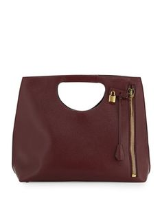 Alix Zip & Padlock Shopper Tote Bag, Red by Tom Ford at Neiman Marcus.