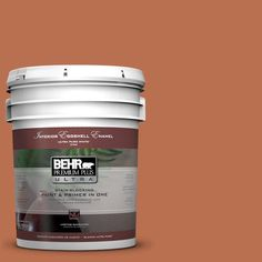 BEHR Premium Plus Ultra 5-gal. #230D-6 Iced Tea Eggshell Enamel Interior Paint