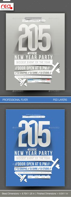 New Year Party Flyer & Poster Template 1 — Photoshop PSD #christmas #promotion • Available here → https://graphicriver.net/item/new-year-party-flyer-poster-template-1/6119249?ref=pxcr