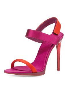 Calcoat Sport High-Heel Sandal, Red/Pink