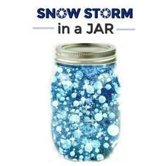 FUN SCIENCE: Make a snow storm in a jar. How co tool! (Winter science for kids) #winter #scienceforkids #kidexperiment