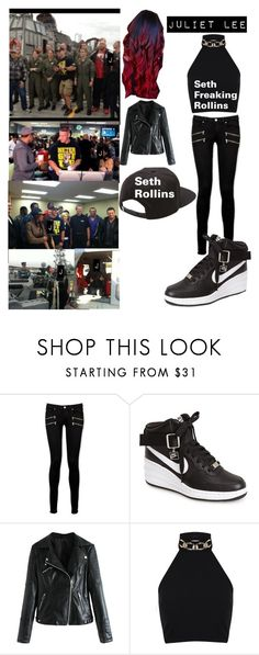 """Juliet Lee and other superstars"" by patrick-stump-lover ❤ liked on Polyvore featuring WWE, Paige Denim, NIKE, WithChic, Miss Selfridge and Vans"